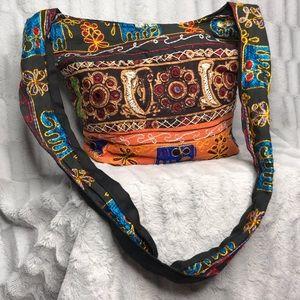 Handbags - Boho Festival Fabric Elephant Hippie Crossbody Bag